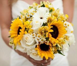 October 2015 - Sunflowers Bridal Bouquet