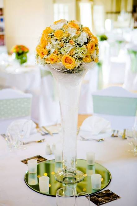Pearly white Long Vase