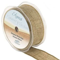 HESSIAN RIBBON NATURAL - 38MM