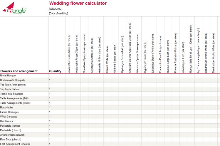 Wedding Calculator